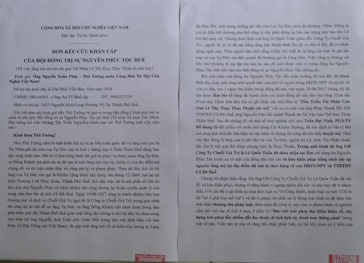 Lăng mộ vợ vua Tự Đức bị san ủi: Công an vào cuộc