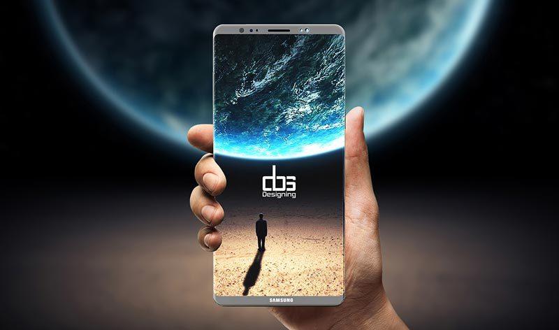 Galaxy Note 8 chưa ra, hình mô phỏng Galaxy Note 9 đã hiện diện trên mạng