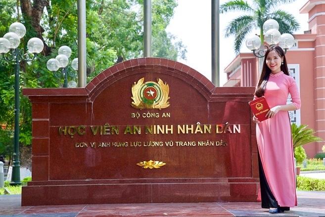 Nữ sinh xinh đẹp tốt nghiệp loại giỏi của Học viện An ninh nhân dân