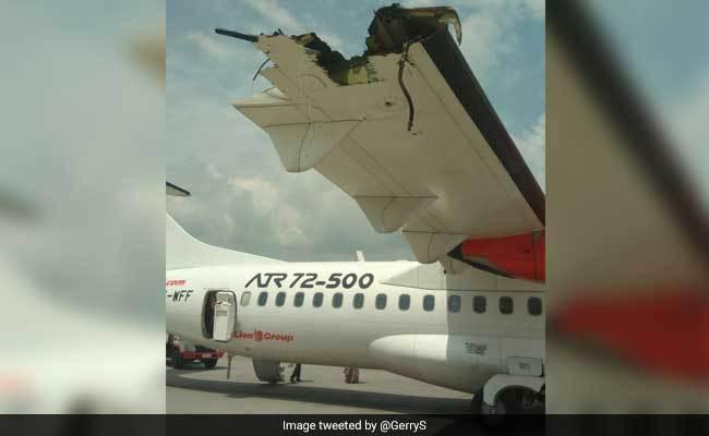 Máy bay Indonesia đụng nhau vỡ cánh