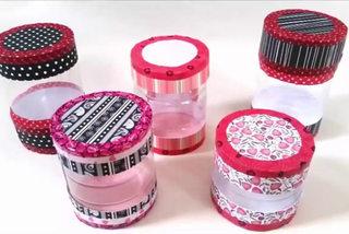 Cách làm hộp quà nhỏ xinh từ chai nhựa