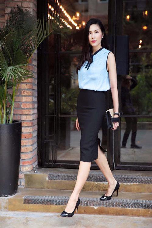 Học cách phối thời trang công sở đẹp như Tăng Thanh Hà