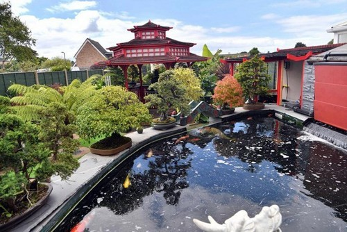 sân vườn đẹp, phong cách Á Đông, vườn cây tiền tỷ