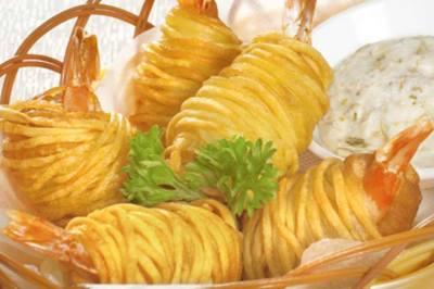 Tôm cuộn khoai tây chiên- sự lựa chọn thông minh cho bữa cơm cuối tuần