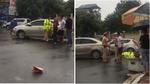 Người đàn ông vụt gậy golf vào CSGT trên phố Hà Nội