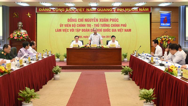 Thủ tướng làm việc với tập đoàn Dầu khí