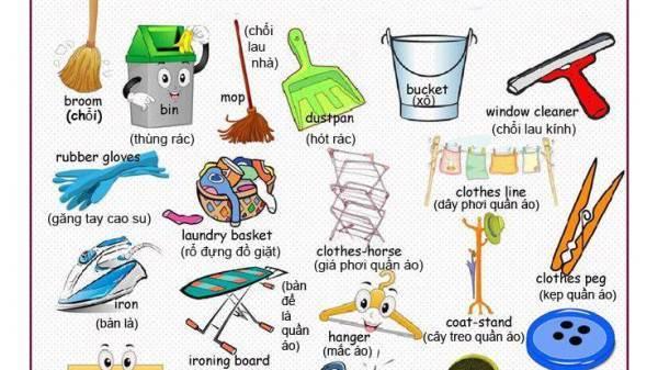 Từ vựng tiếng Anh về vật dụng trong gia đình