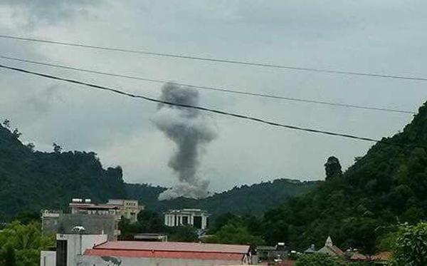 Nổ lớn tại kho quân khí Công an tỉnh Hà Giang