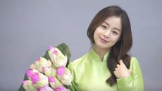 Kim Tae Hee lần đầu diện áo dài Việt khi mang bầu 5 tháng