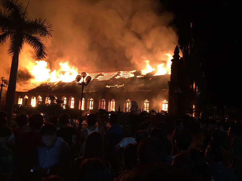 Cháy nhà thờ Trung Lao, Cháy ở Nam Định, Cháy nhà thờ