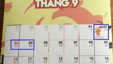 Quốc khánh 2/9: Người lao động được nghỉ 3 ngày