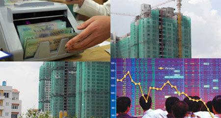 chứng khoán, cổ phiếu ngân hàng, cổ phiếu bất động sản, VN-Index, Trầm Bê, Sacombank, Trương Gia Bình, Nguyễn Đức Tài, cổ phiếu chứng khoán
