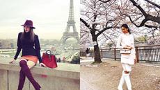 Diện 'đồ đôi' đi du lịch, Phạm Hương hay Lan Khuê mặc đẹp hơn?