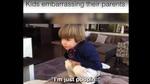 Những tình huống các bé làm bố mẹ ngượng chín