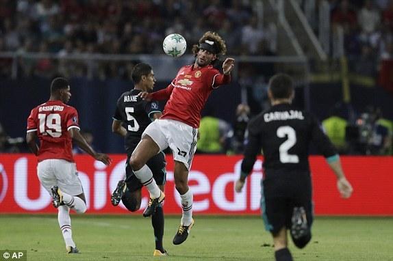 MU, Mourinho, Real Madrid, Siêu Cúp châu Âu 2017, Marouane Fellaini