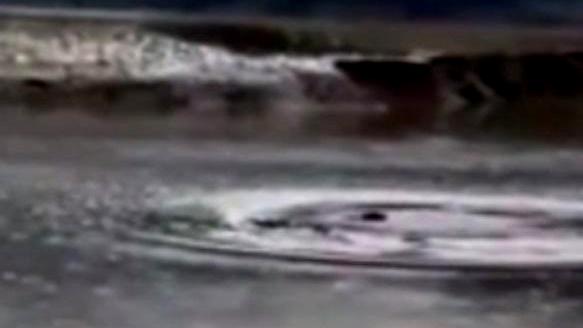 Quái vật bí ẩn xuất hiện ở hồ nước tại Trung Quốc gây xôn xao