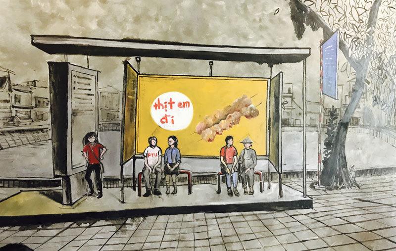 Hợp tác xã thịt xiên nướng 'phục vụ nhân dân' 80kg thịt/ngày