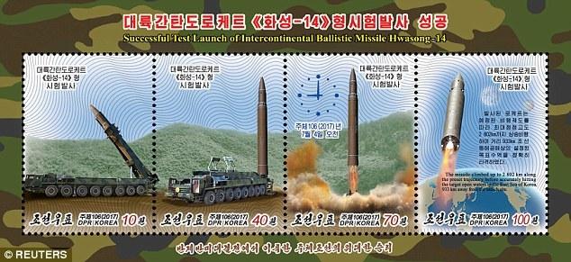 Triều Tiên, tên lửa Triều Tiên, vũ khí hạt nhân, ICBM, bộ tem
