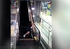 Tận dụng thang cuốn tập Gym, cô gái suýt mất tay