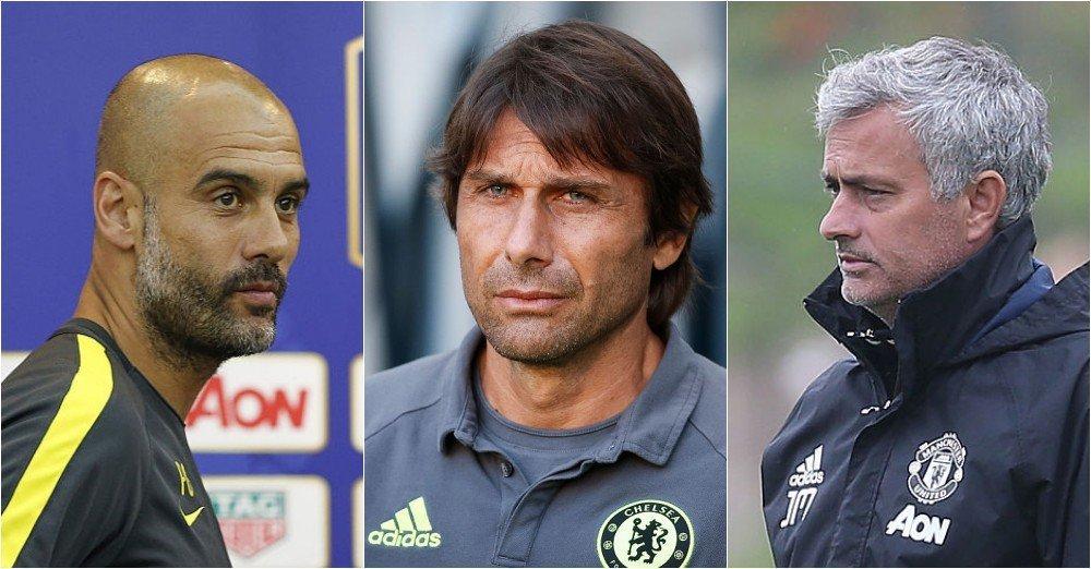 Premier League, MU, Mourinho, Man City, Pep Guardiola, Chelsea, Conte