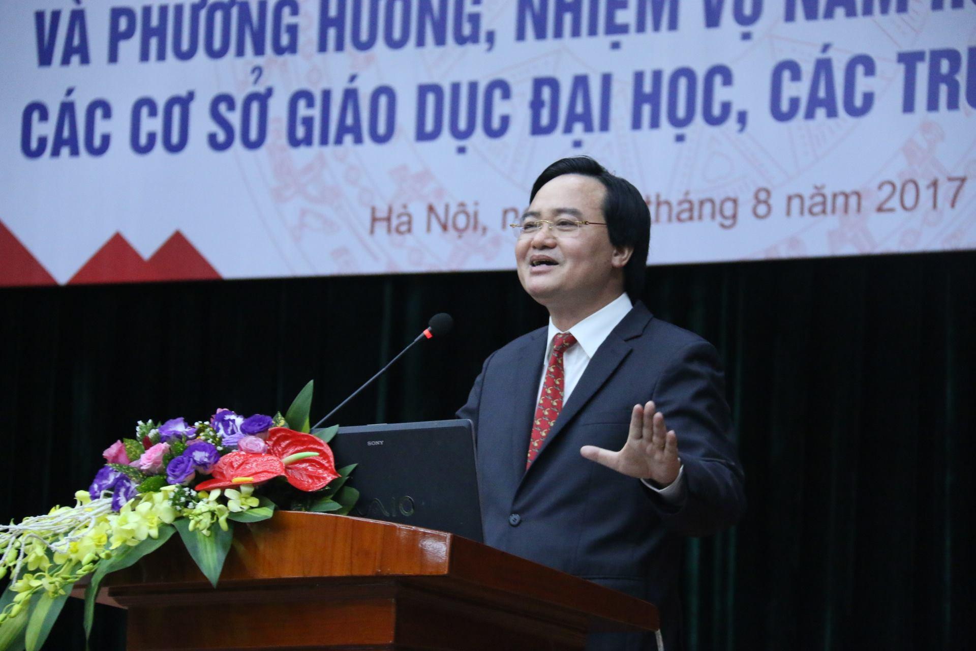 Bộ trưởng Phùng Xuân Nhạ,giáo dục đại học