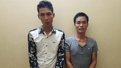 Bắt 2 thanh niên cướp taxi táo tợn ở Hà Nội