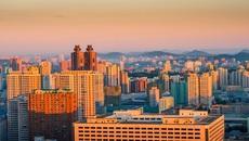 Bình minh trong lành tại thủ đô của Triều Tiên