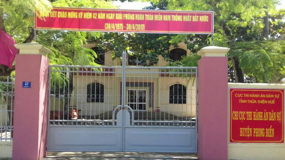 TT-Huế: Một chấp hành viên bị khởi tố