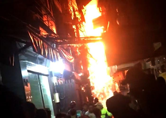 cháy lớn,cháy phố Tây,cháy ở Sài Gòn,cháy lớn ở Sài Gòn
