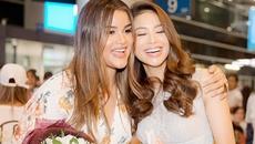 Hoa hậu Hoàn vũ Dominica rạng rỡ nắm tay Phạm Hương