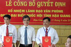 Nhân sự mới tỉnh Hậu Giang, Nghệ An