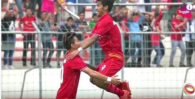 U22 Myanmar thắng dễ Singapore trận ra quân SEA Games 29