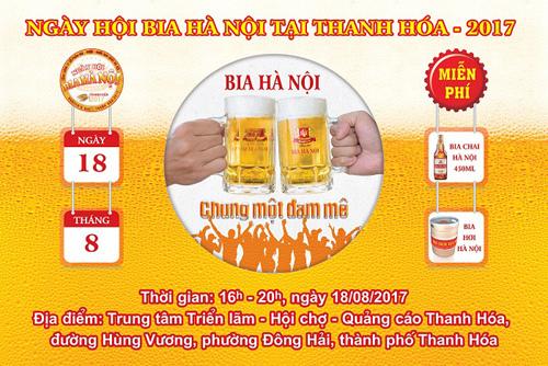 Xứ Thanh mở màn Ngày hội bia 2017