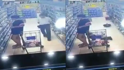 Cô gái bị nhìn lén dưới váy ngắn khi mua hàng siêu thị