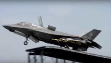 Siêu chiến cơ F-35 'đeo' đầy vũ khí lao dốc cất cánh ngoạn mục