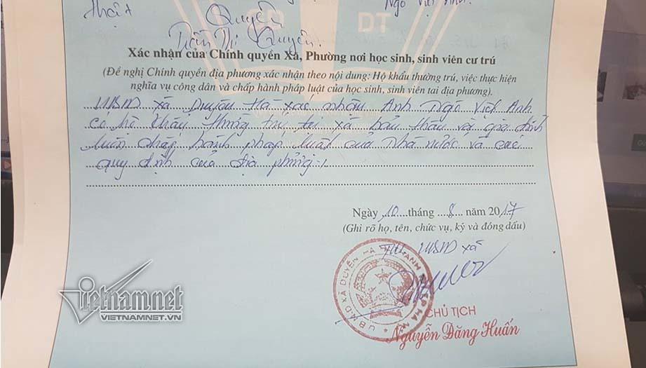lý lịch, Hà Nội, thủ tục hành chính