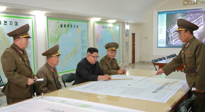 Bí mật bất ngờ trong tấm bản đồ sau lưng Kim Jong Un