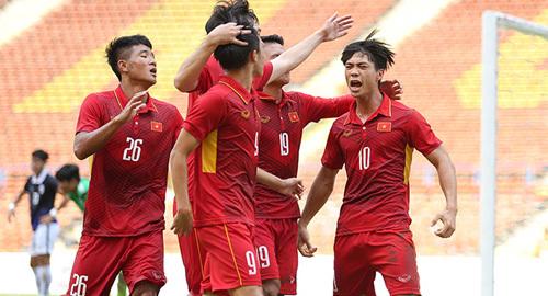 Video bàn thắng U22 Việt Nam 4-1 U22 Campuchia
