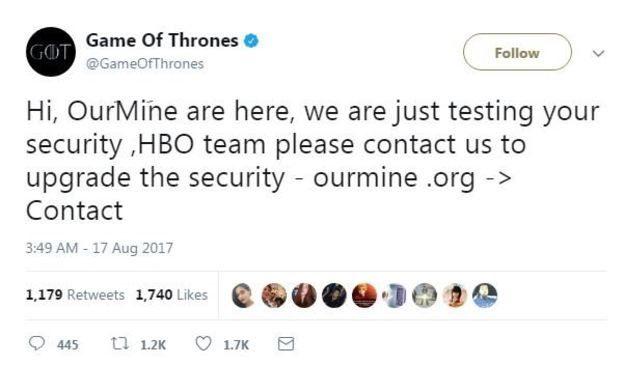 HBO tiếp tục bị hacker chiếm quyền kiểm soát tài khoản mạng xã hội