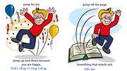 8 cách biến hóa của động từ 'jump'