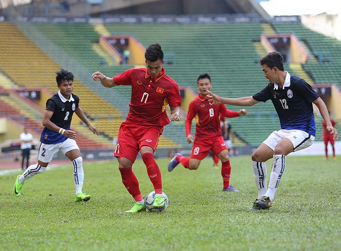 U22 Việt Nam, Công Phượng, U22 Campuchia