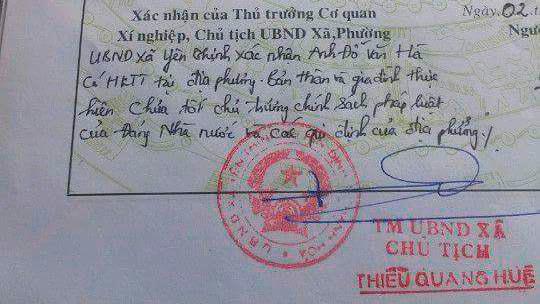 Phê lý lịch nhập học, lý lịch, Thanh Hoá,