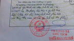 Nam sinh bị trả hồ sơ nhập học do Chủ tịch xã phê lý lịch