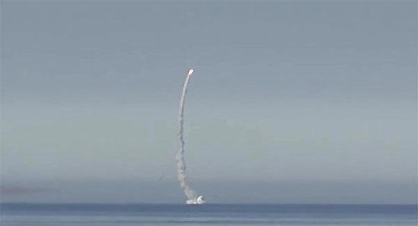 Lộ video tên lửa bay lên từ tàu ngầm hạt nhân Nga