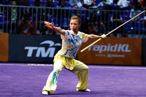 Hoàng Thị Phương Giang giành HCV Wushu