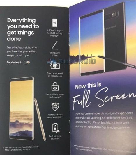 Galaxy Note8 lộ diện chính thức ngay trước giờ G
