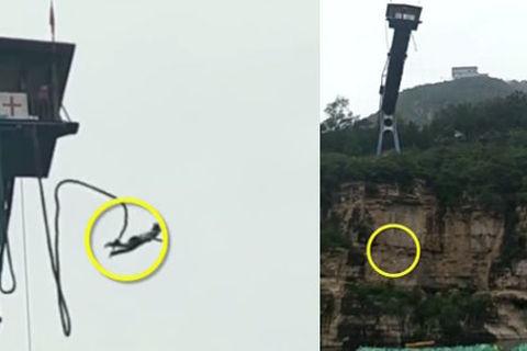 Rơi xuống sông trong lúc nhảy bungee, thiếu nữ may mắn sống sót