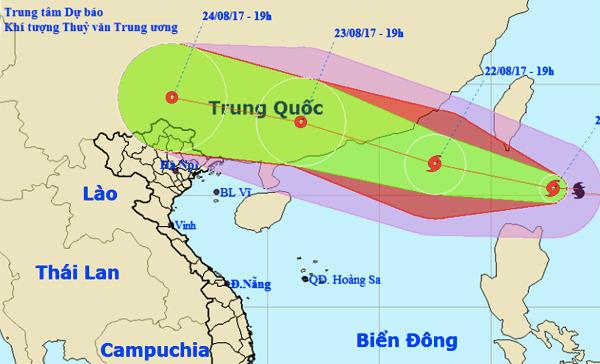 Dự báo thời tiết 22/8: Hôm nay, bão giật cấp 11 đi vào biển Đông
