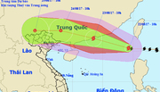 Bão số 6 giật cấp 14, hướng về biên giới Việt-Trung