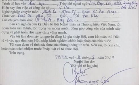 Ca sĩ Ngọc Sơn tự xưng là 'giáo sư âm nhạc'
